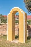 团结的被改革的教会的钟楼和响铃在Zoar 免版税库存照片