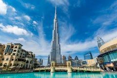团结的阿拉伯burj迪拜酋长管辖区khalifa 免版税库存照片