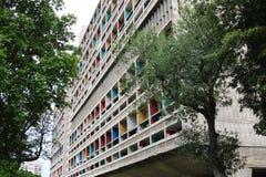团结d'Habitation在马赛,法国 免版税图库摄影