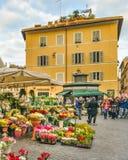 园地dei Fiori广场,罗马,意大利 免版税库存图片