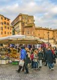 园地dei Fiori广场,罗马,意大利 库存照片