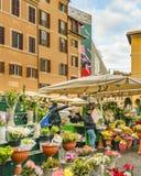 园地dei Fiori广场,罗马,意大利 免版税图库摄影