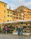 园地dei Fiori广场,罗马,意大利 库存图片