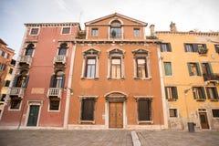 园地dei Frari在威尼斯市 圣马球D的这个方形的中心 免版税库存照片
