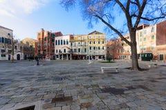 园地di Ghetto Nuovo,威尼斯 库存图片