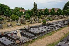 园地Santo公墓,跟特,比利时 免版税库存照片