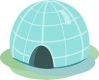 园屋顶的小屋传染媒介例证 免版税库存照片