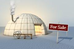 园屋顶的小屋销售额 库存图片