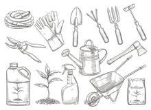 园艺工具传染媒介 库存例证