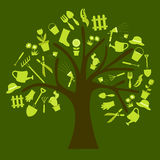 园艺工具树 库存图片