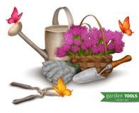 园艺工具背景 库存例证