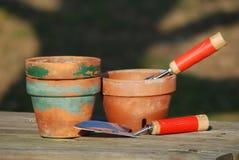 园艺工具 图库摄影