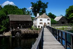 困凹陷, NY :历史的Philipsburg庄园 免版税图库摄影