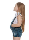 困厄的小女孩 免版税库存照片