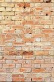 困厄的砖墙背景 免版税图库摄影