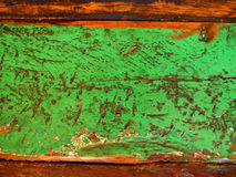 困厄的绿色油漆 免版税库存照片