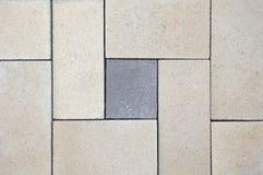 困厄老砖墙纹理,地垫 有几何样式的锦砖 库存照片