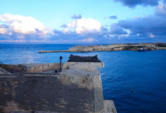 围困响铃战争纪念建筑,瓦莱塔,马耳他 免版税库存图片