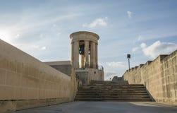 围困响铃战争纪念建筑,瓦莱塔,马耳他 库存照片