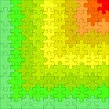 困惑不同的颜色 从正确的顶面红色难题 光栅 库存例证