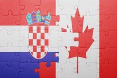困惑与加拿大和克罗地亚的国旗 免版税库存照片