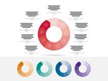 困惑与在白色背景隔绝的说明文本领域的介绍infographic图图向量图形模板 免版税库存照片