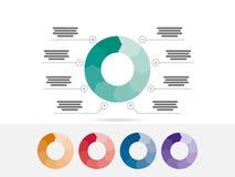 困惑与在白色背景隔绝的说明文本领域的介绍infographic图图向量图形模板 免版税库存图片