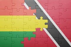 困惑与特立尼达和多巴哥和玻利维亚的国旗 免版税库存图片