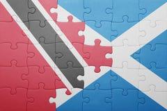困惑与特立尼达和多巴哥和苏格兰的国旗 向量例证
