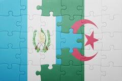 困惑与阿尔及利亚和危地马拉的国旗 库存照片