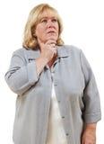 困惑的妇女 免版税库存图片