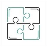 困惑空白的模板或切口指南传染媒介例证 图库摄影