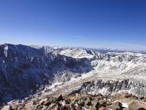 困惑高峰山顶视图 免版税库存照片