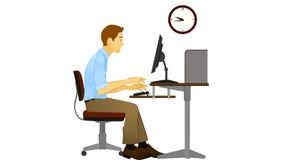 困打字员或程序员 免版税库存照片