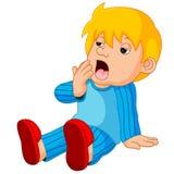 困逗人喜爱的男孩的动画片 库存照片
