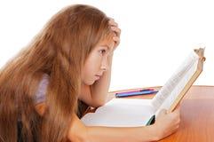 困难家庭作业 免版税图库摄影