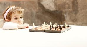 困难的一盘象棋 免版税库存照片