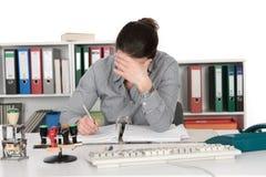 困难的工作 免版税库存照片