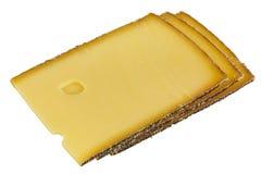 困难的干酪半 免版税库存照片