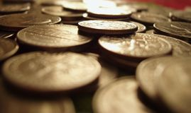 困难的货币 免版税库存照片