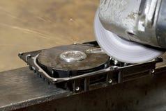 困难磁盘驱动器的研磨机 库存照片