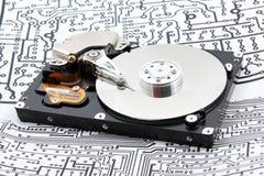 困难计算机的光盘 库存照片