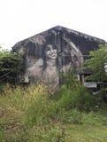 围住墙壁上的街道艺术,槟榔岛,茱莉亚Volchkova 免版税库存照片