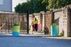 围场空间的注册在城市 图库摄影