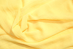 围巾丝绸黄色 库存照片