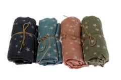 围巾被折叠的卷 图库摄影