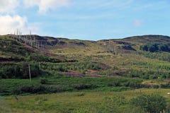 围拢在斯凯岛小岛的小山神仙水池  库存图片