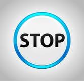 围绕蓝色按钮的中止 向量例证