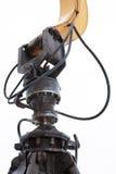 紧固在t的蛤壳状机件桶机制的特写镜头  库存照片