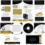 固定式的金子 免版税库存图片